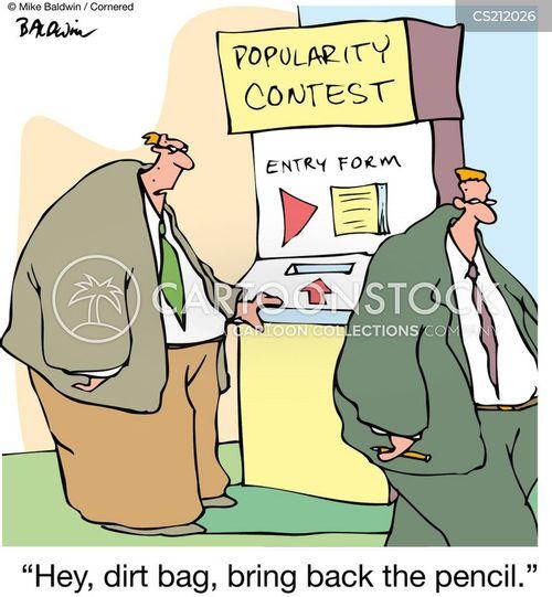 entry forms cartoon
