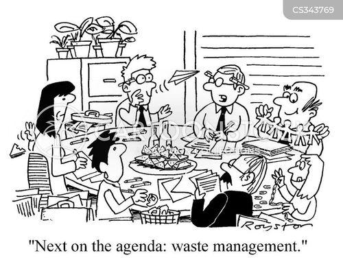 waste management cartoon