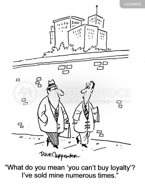 worker loyalty cartoon