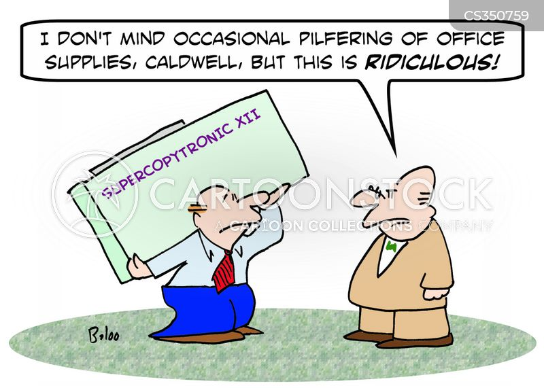 pilfering cartoon