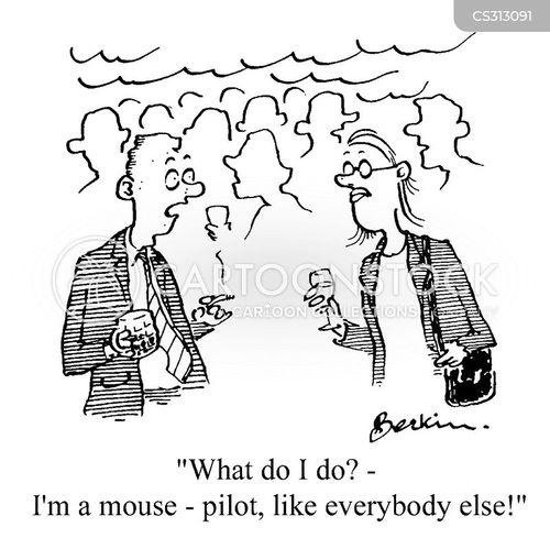word processing cartoon