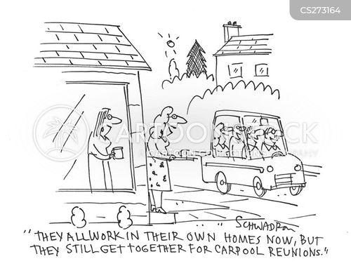 carpooling cartoon