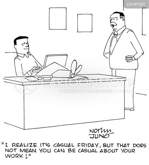 casualness cartoon