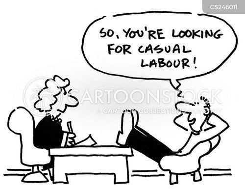 casual labour cartoon