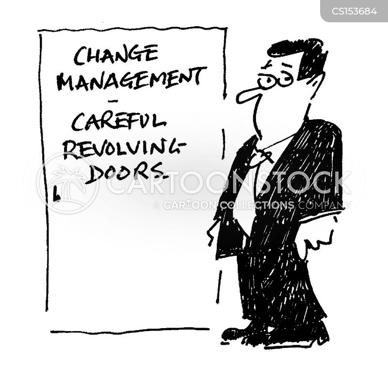 revolving door policy cartoon