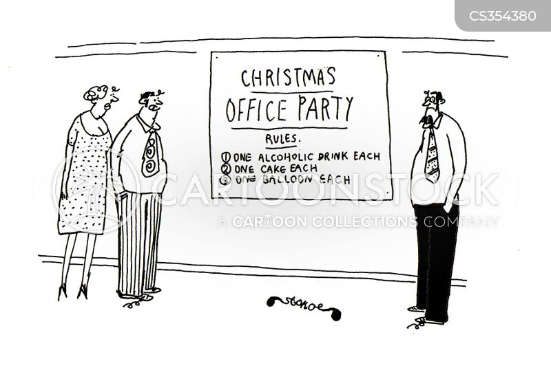 works party cartoon