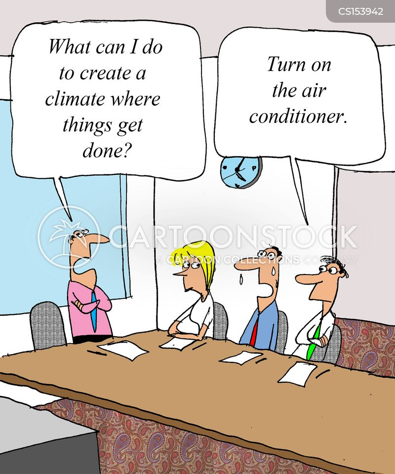 air conditioners cartoon