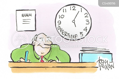 work hour cartoon
