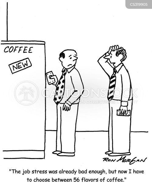 coffee flavors cartoon