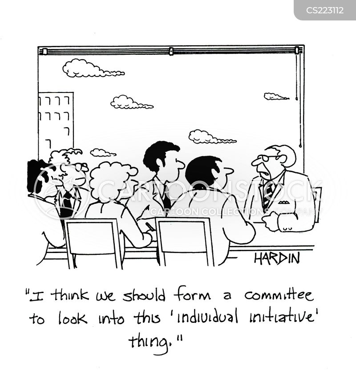 individual initiative cartoon
