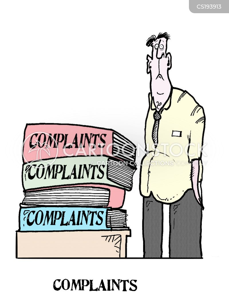 complaints departments cartoon