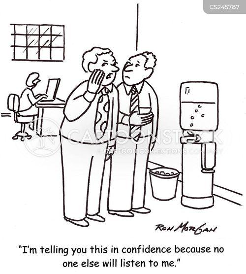 confidences cartoon