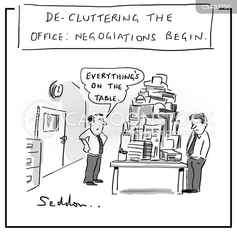 decluttered cartoon