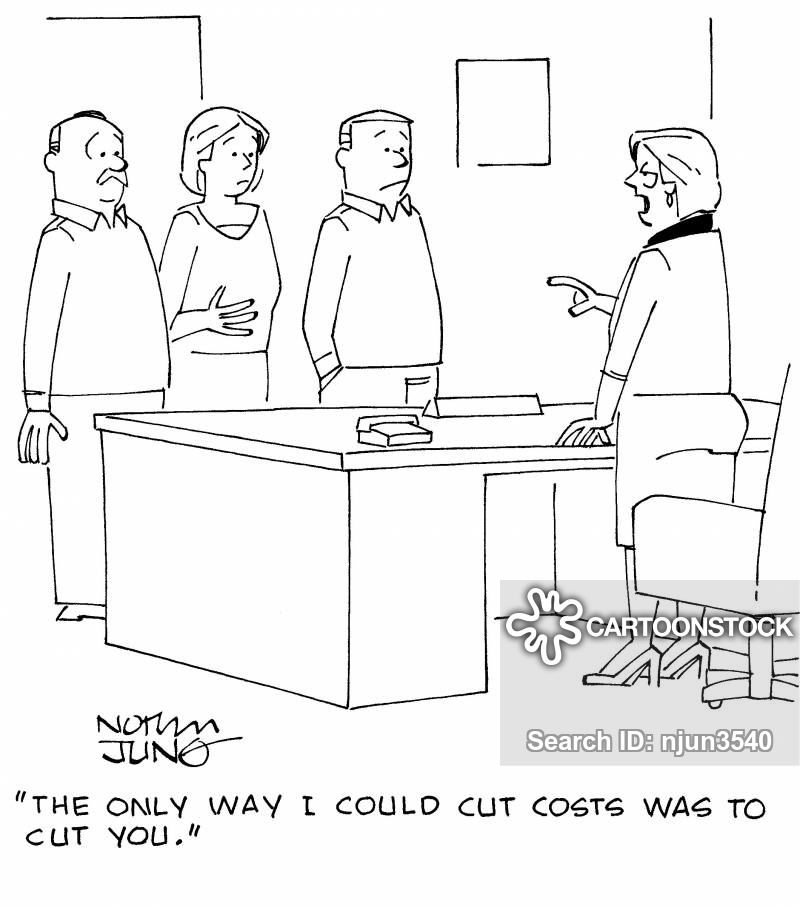 cutting cost cartoon