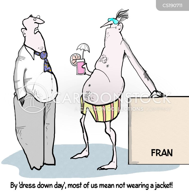 dress-down fridays cartoon