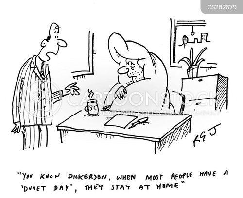 duvet cartoon