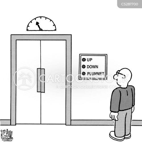plummets cartoon