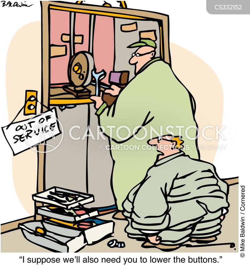 out of service cartoon