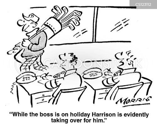 laid-back cartoon