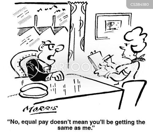 equal pay cartoon