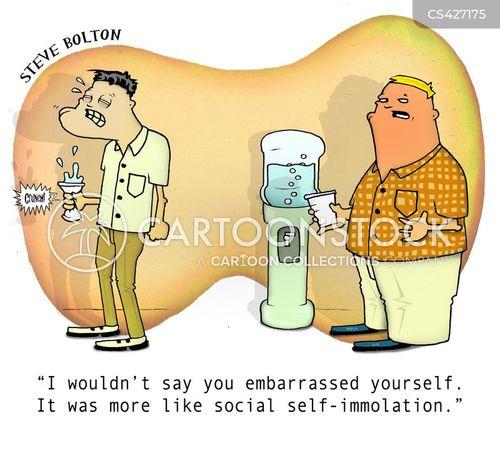 self-immolation cartoon