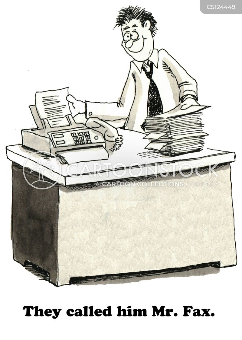fax machine cartoons and comics funny pictures from cartoonstock