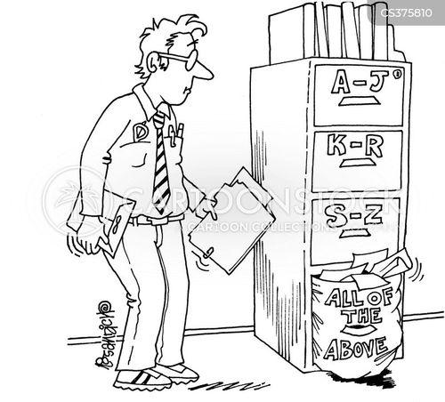 alphabetize cartoon