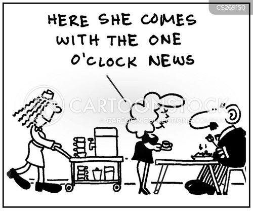tea lady cartoon