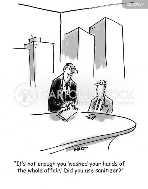 sanitize cartoon