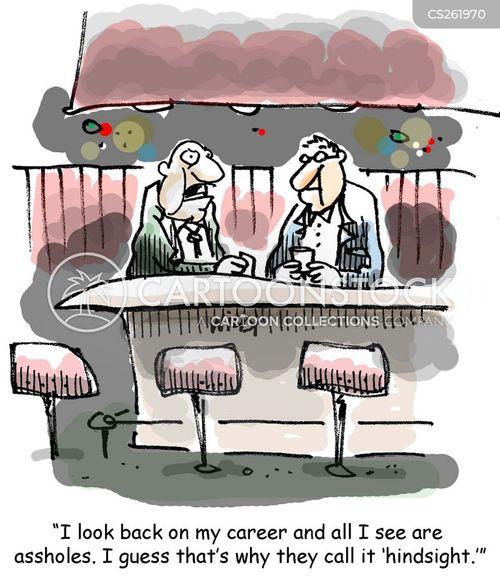 benefit of hindsight cartoon