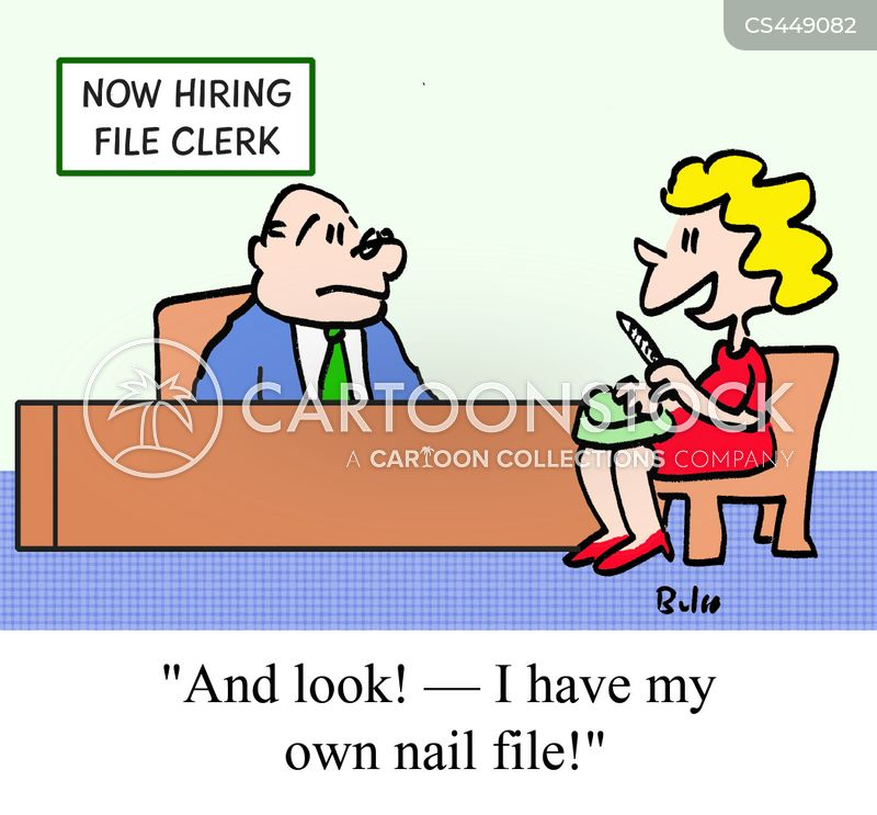 nail file cartoon