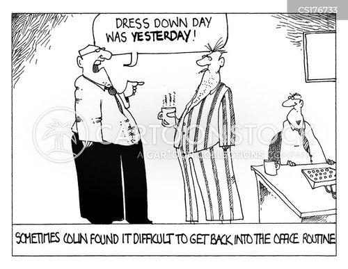 routines cartoon