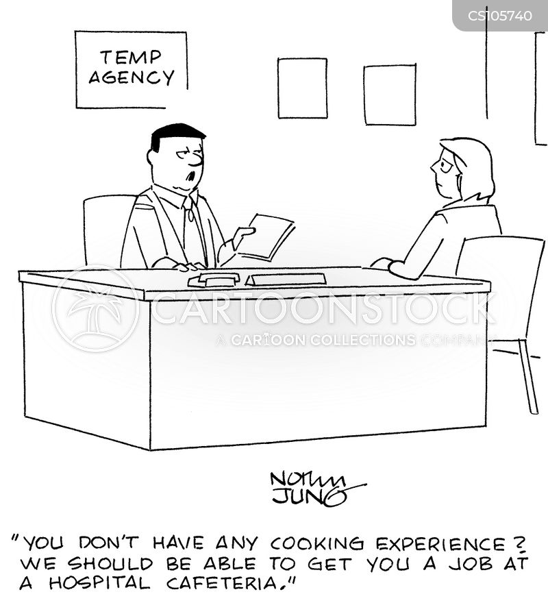 employment agent cartoon