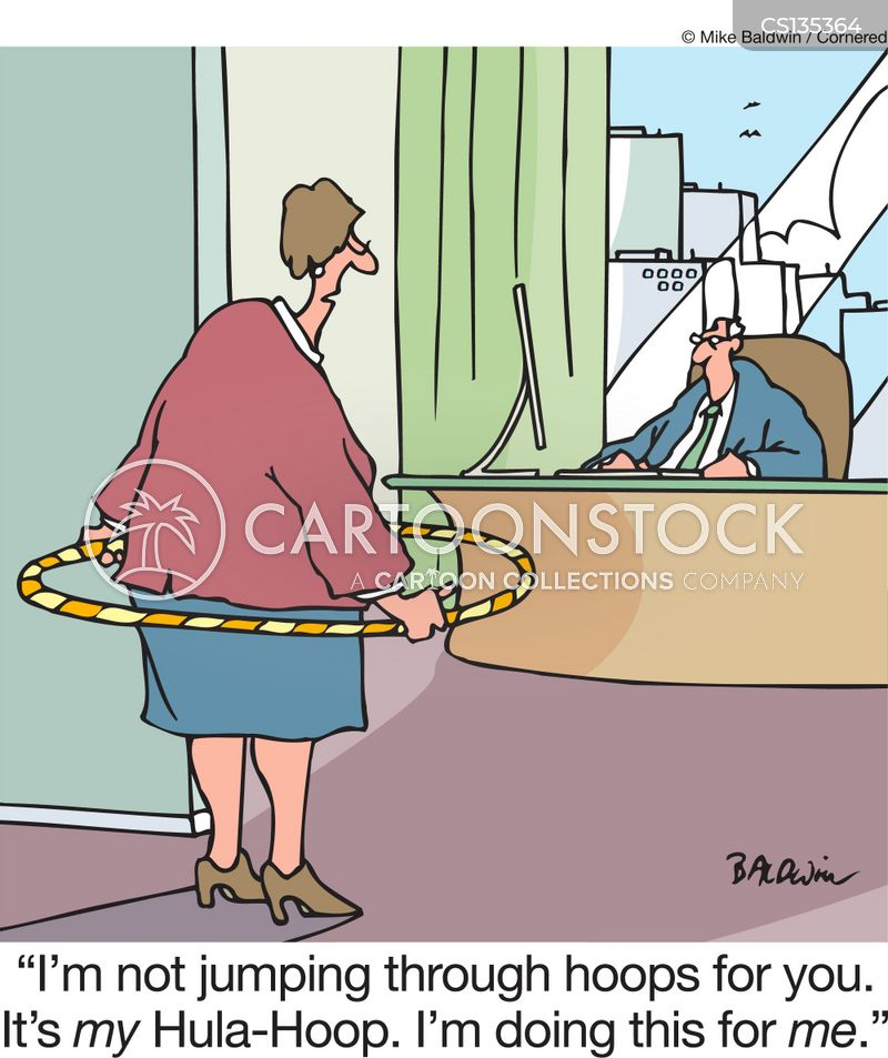 hula-hoop cartoon