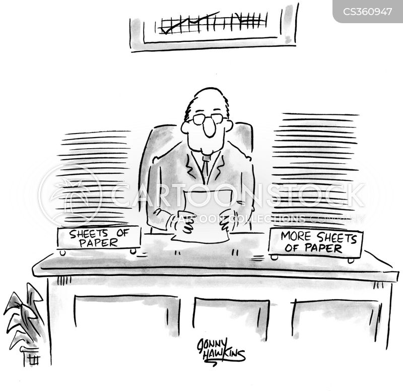 in and out tray cartoon