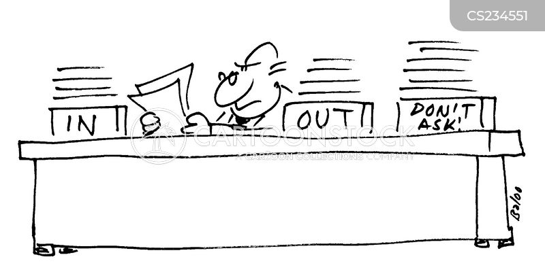 filling system cartoon