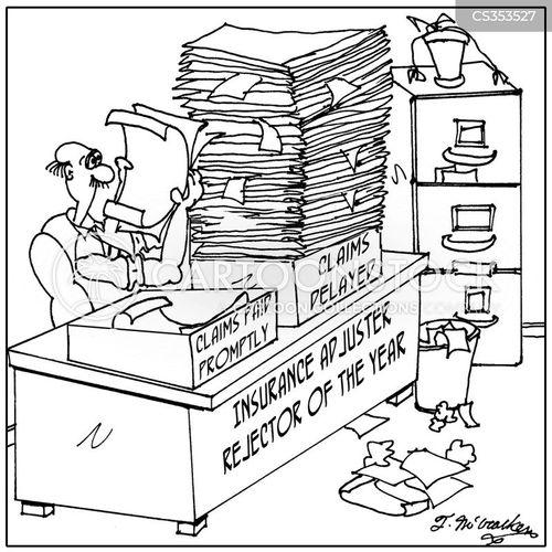 insurance adjuster cartoon