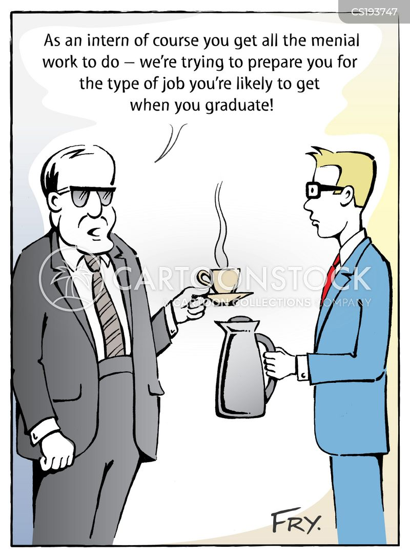 menial task cartoon