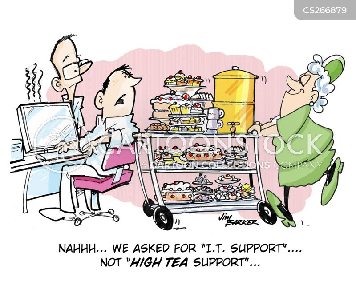 high tea cartoon