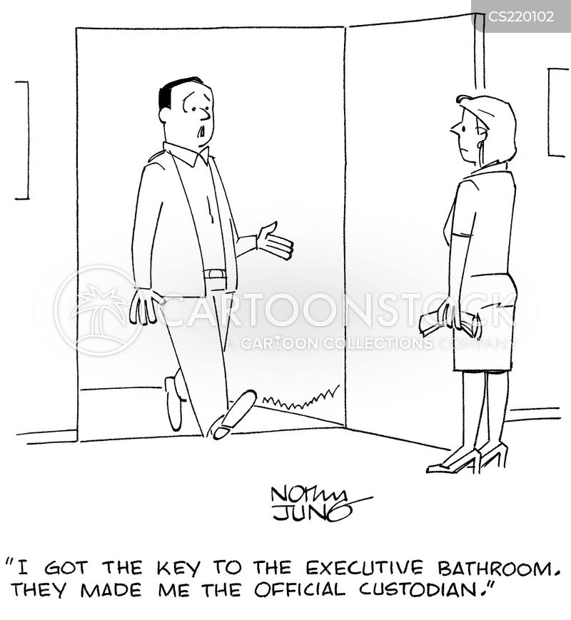 Executive Cartoon: Executive Bathroom Cartoons And Comics