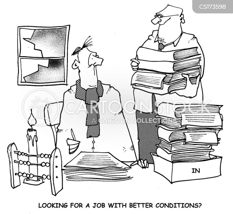 working conditions cartoon
