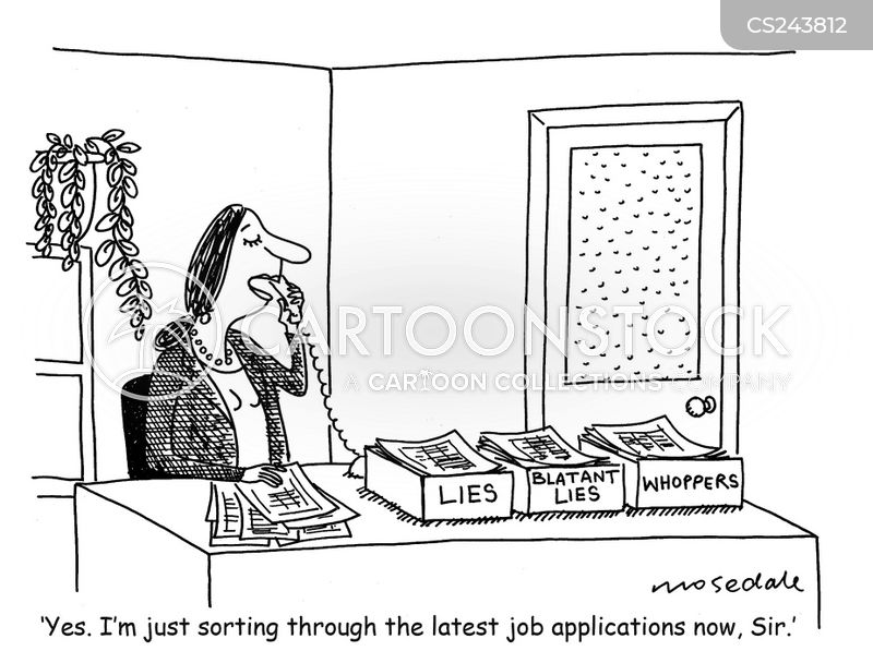 lying to obtain work cartoons and comics funny pictures from