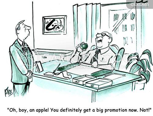 job promotion cartoon