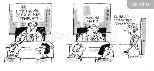 temp job cartoon
