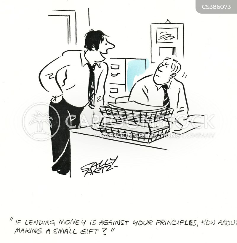 ask for money cartoon