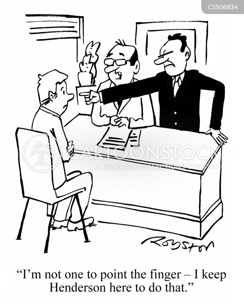 pointing the finger cartoon