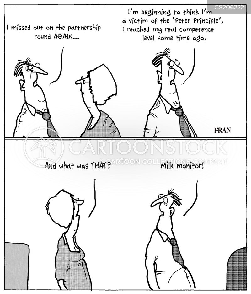 business ladders cartoon