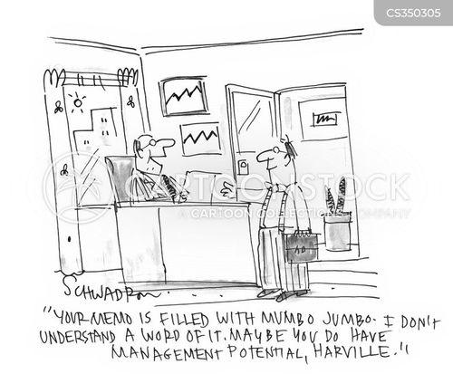 office jargon cartoon
