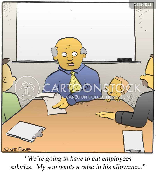 wage cuts cartoon