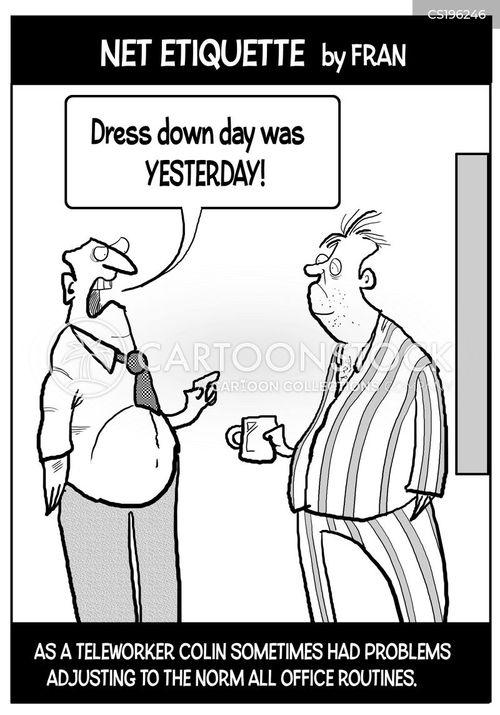 telecommuter cartoon